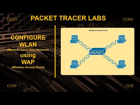 How to configure wireless lan using wireless access point | cisco packet tracer lab