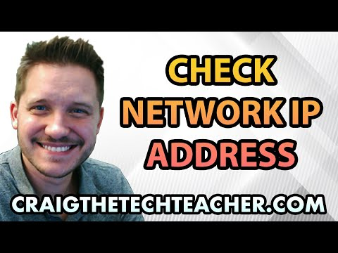 How to check a network ip address in windows (2020)