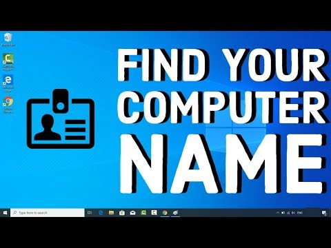 How to find your computer name on windows 10