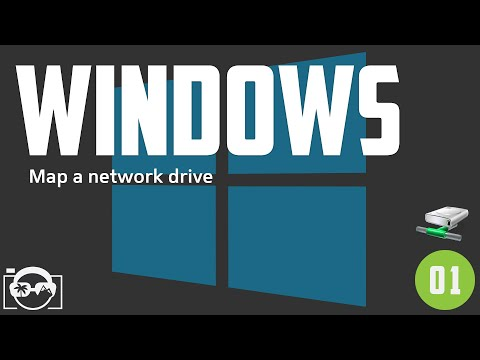 Windows 10 beginner tutorial - how to map network drive in windows 10