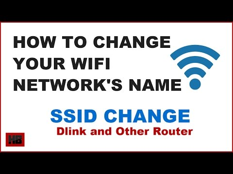 How to change wifi network name and protect wifi | how to change ssid of your dlink router