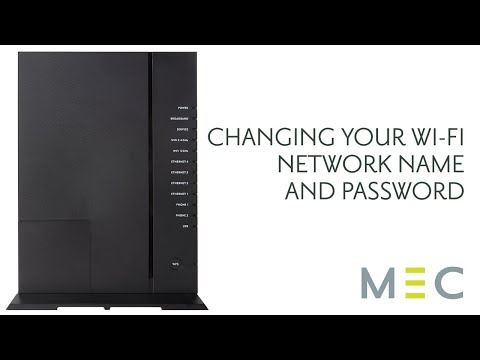 Changing your wi-fi network name & password