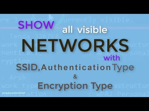 How to find ssid of wi-fi networks with authentication, networks or encryption type   pointech