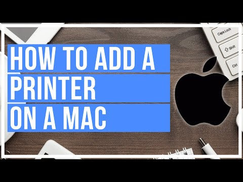 How to add a printer on mac /// wireless and wired