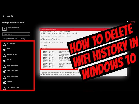 Two methods how to delete/ forgot wifi network history using cmd in window 10.