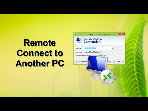 Remote desktop connection to another computer in the same network