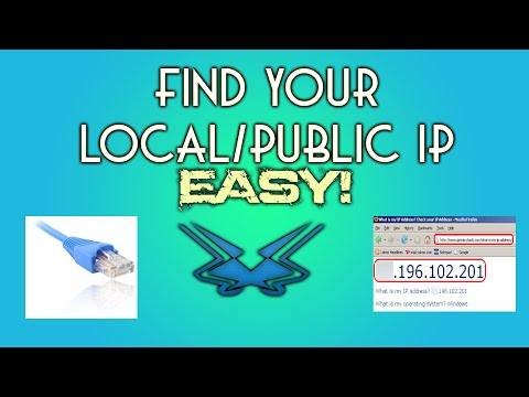 Find your local/public ip address. easy!