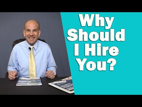 Why should i hire you? - best classic answer