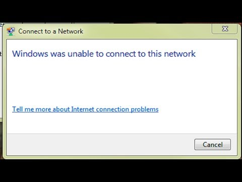 """Fix """"windows 10 can't connect to this network"""""""