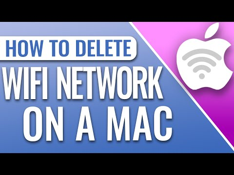 How to delete a wifi network on mac