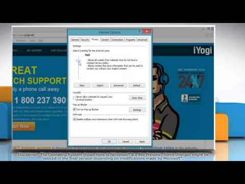 How to block or allow cookies from specific websites in internet explorer® 11 on a windows® 8.1 pc