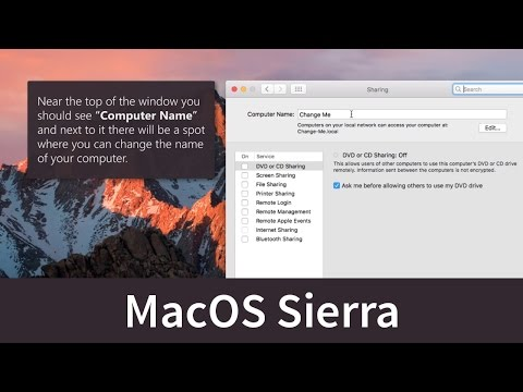 Macos sierra - learn how to change your mac's computer name.