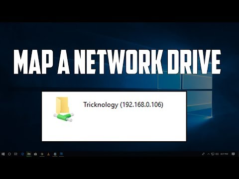 How to map a network drive in windows 10