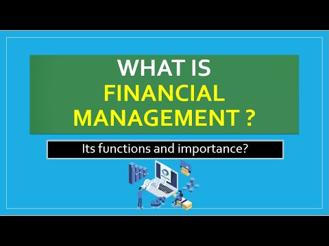 Bba/mba: intro to financial management / functions / importance / example.