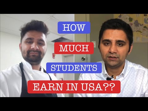 💵 how much students earn in usa? international student in usa | nepali in usa