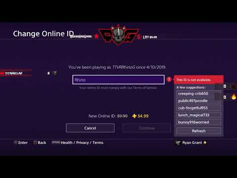 How to change your psn gamertag!