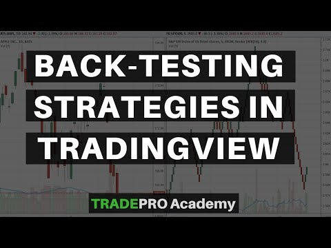 How to back-test your strategy on trading view.