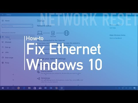 How to reset ethernet (wired) network adapter on windows 10