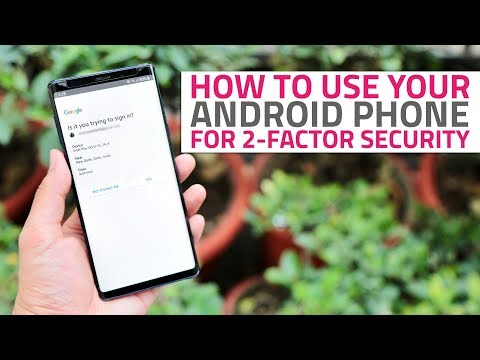 How to use your android phone as a security key