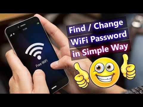 How to find/change wifi router password in simple way