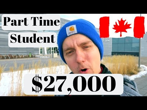 Working part time to paying off your tuition , international student in canada