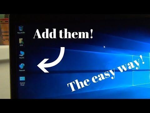 How to add this pc, network, control panel and user to desktop in windows 10