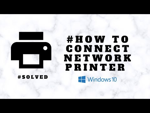 How to connect network printer on windows 10   hp laserjet