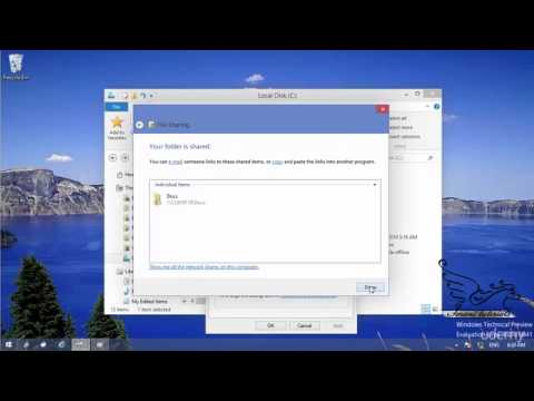 Windows 10 how to share a folder over network