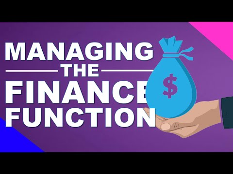 Managing the finance function   lecture series #23   industrial organization & management 📈💻📊