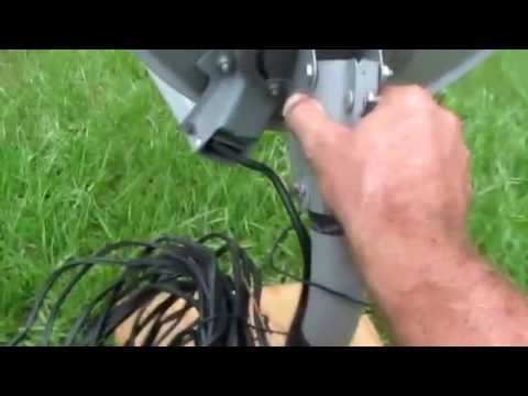 How to set up direct tv satellite dish.