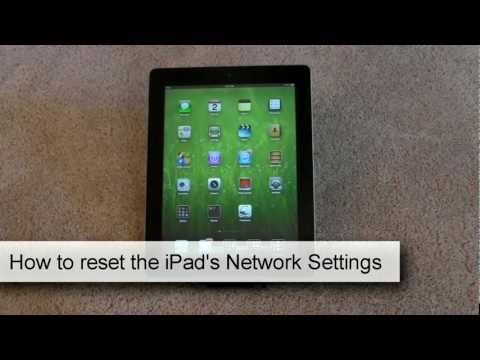 How to reset the ipad's network settings