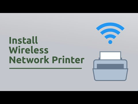 How to install wireless network printer in windows 10