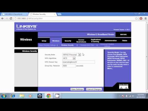 Secure your linksys router with password