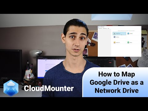 How to map google drive as a network drive to windows, mac and linux computer