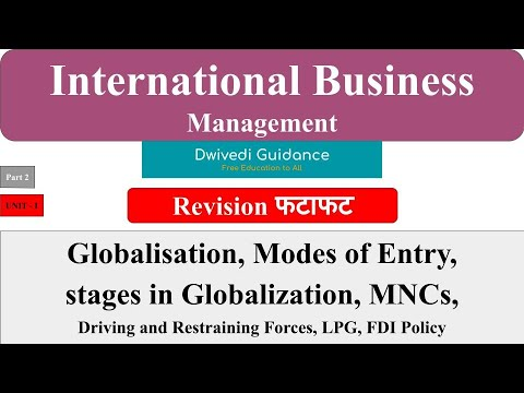 2 | international business management | globalization, modes of entry, mnc, stage in globalization
