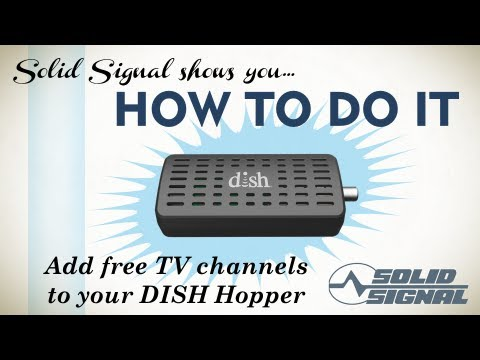 Solid signal shows you: hook an antenna to your hopper dvr