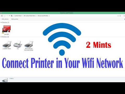 How to connect printer in wifi network |wifi configuration printer setup in pc