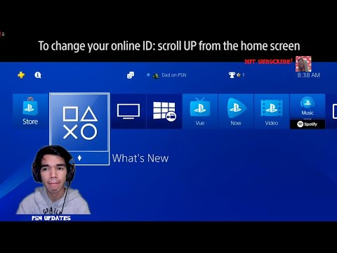 How to change your online id on the playstation network