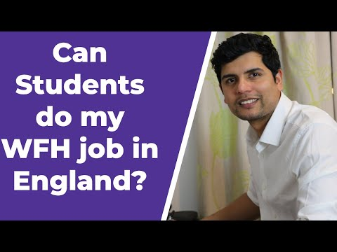 Can students do my wfh job ?   serious talk about this   student help uk