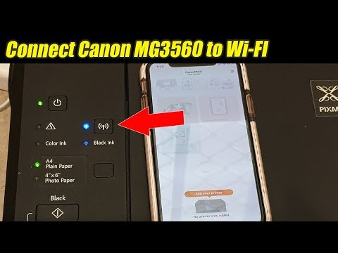 Canon printer mg3560: how to connect to wi-fi router network (iphone / ipad)