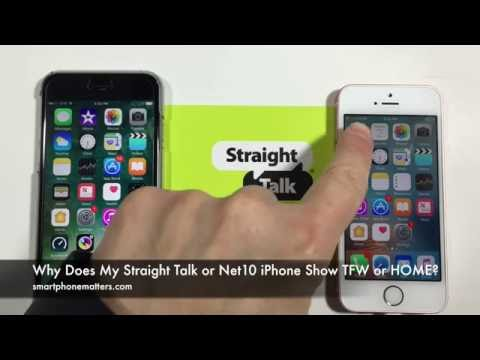 Why does my straight talk or net10 iphone show tfw or home?