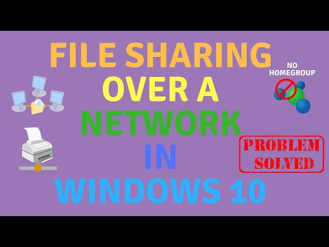File sharing over a network in windows 10