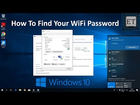 How to find your wifi password in windows 10