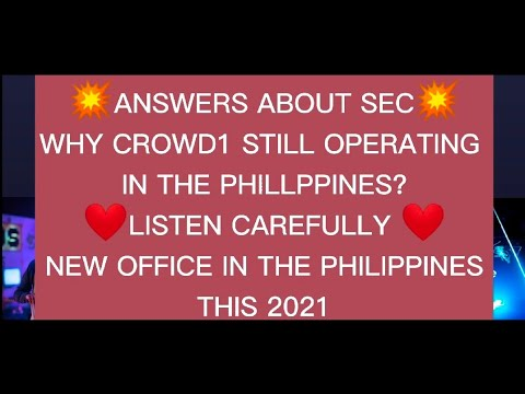 Crowd1 sec | new phil ofc | scam or legit | u.s soon to open | 175 countries