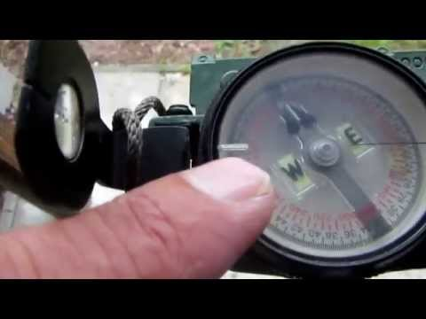 How to use a compass to set up a satellite dish.