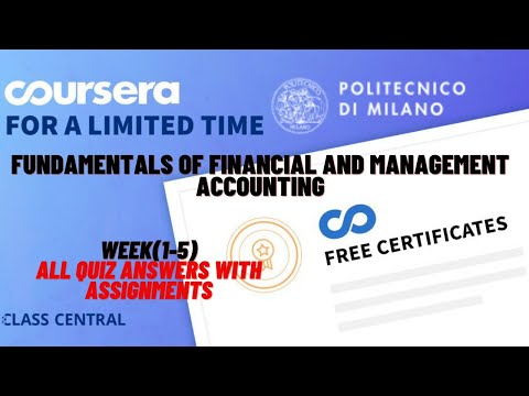 Fundamentals of financial and management accounting, week(1-5) all quiz with answers.