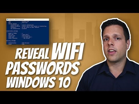 How to find your saved wifi passwords in windows 10