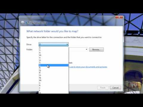 Map your skydrive folder to a windows 7 network drive
