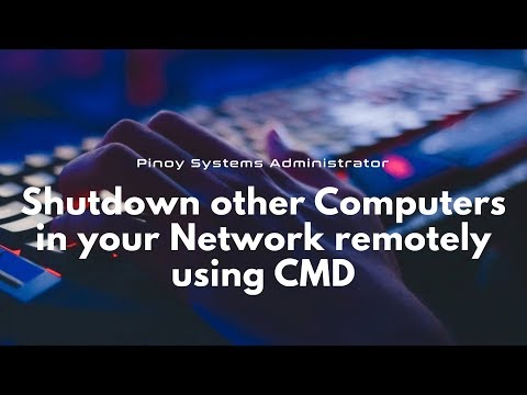Shutdown other computers in your network remotely using cmd