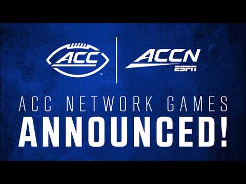 Acc network games announced - first 3 weeks
